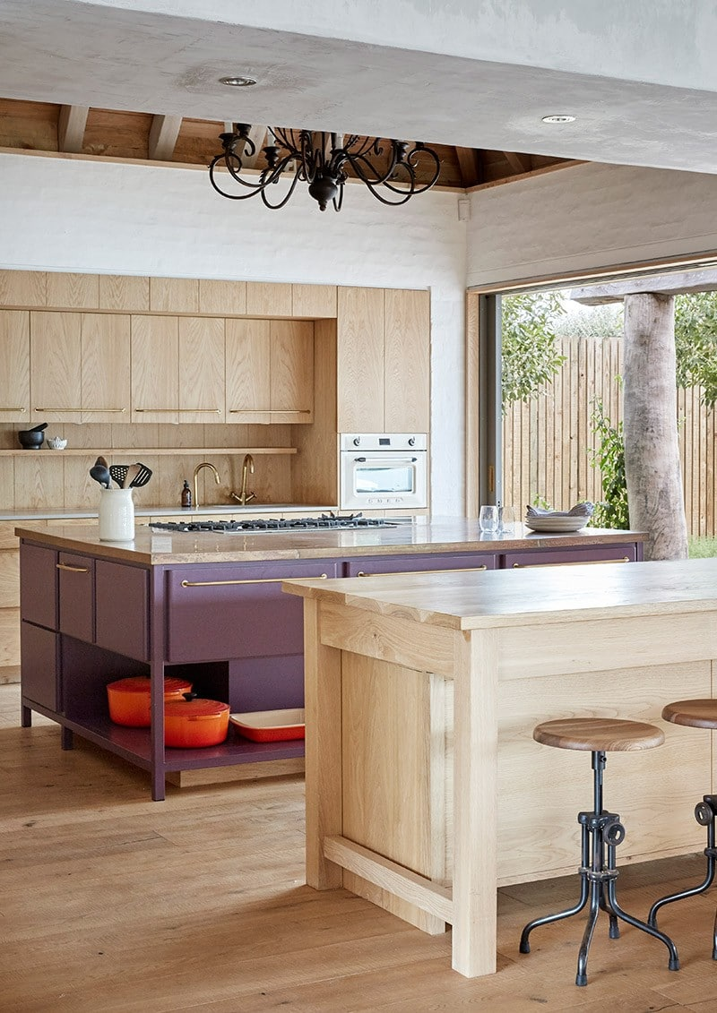 hand chiselled floors in Kitchen